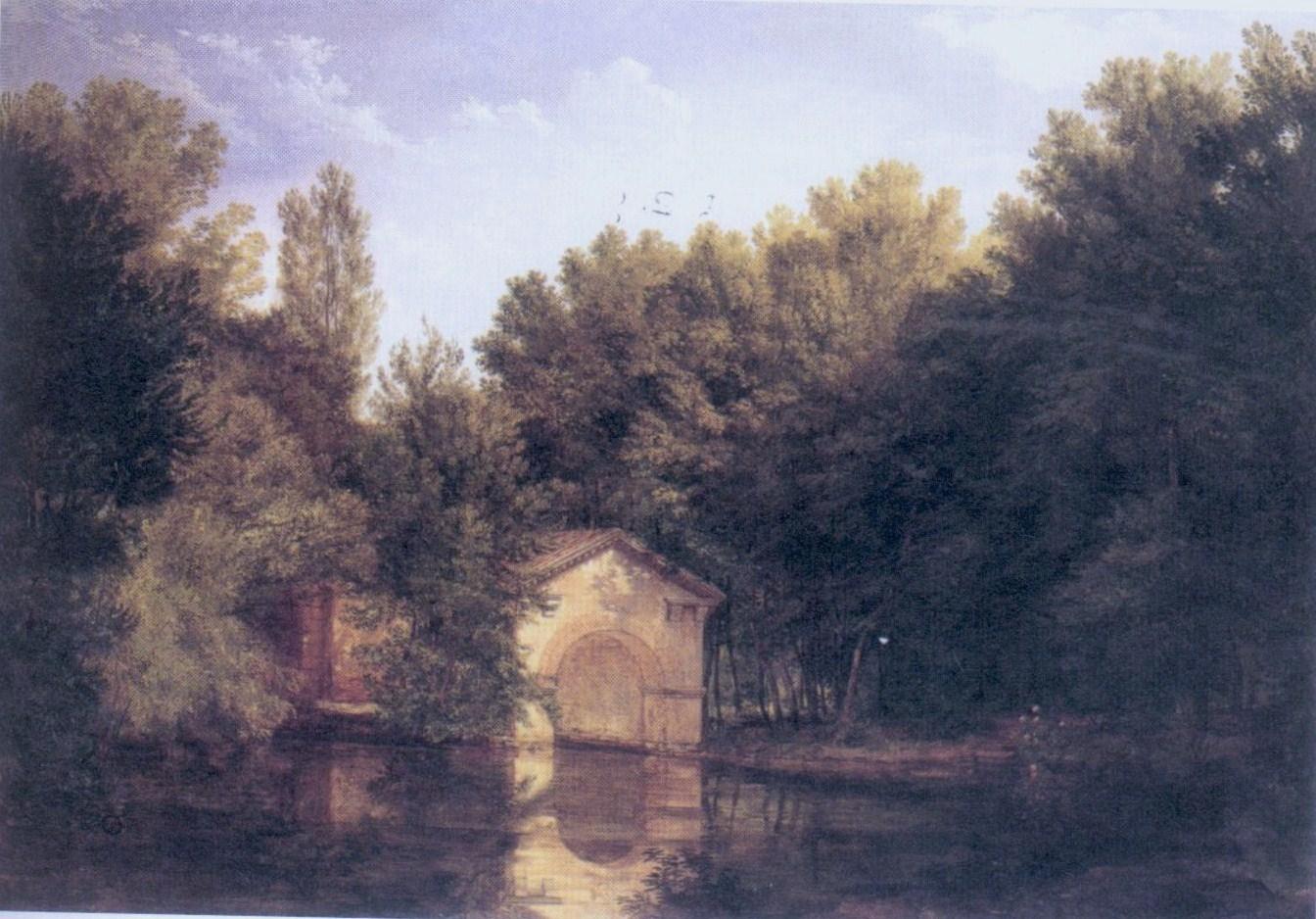 Pelagio Palagi Darsena del laghetto del giardino di Desio Villa Traversi Bologna galleria arte moderna