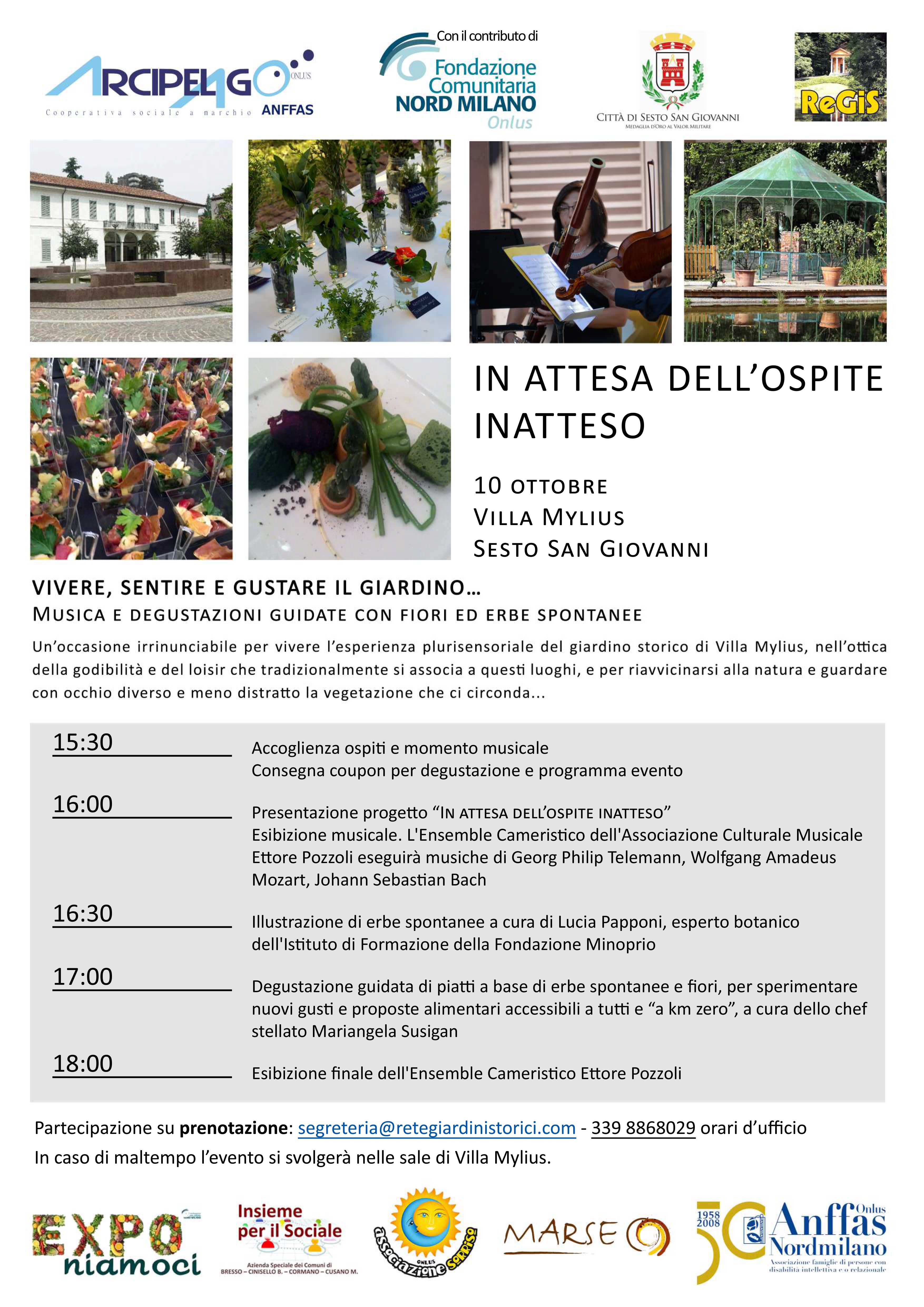 Locandina+-Vivere,+sentire+e+gustare+il+giardino-,+Sesto,+Villa+Mylius
